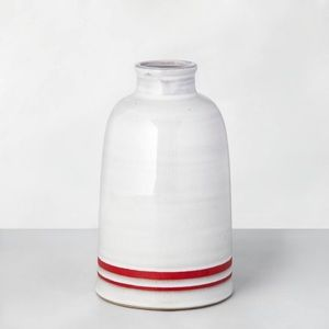 HEARTH AND HAND Magnolia Double Stripe Vase Red